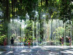 Green Architecture, Futuristic Architecture, Landscape Architecture, Landscape Design, Architecture Design, Dubai Hotel, Glass Bottom Pool, Jungle Resort, Disneyland