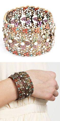 Vintage Multicolor Metal Bracelet ♥