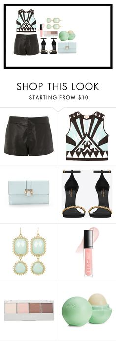 """""""Untitled #364"""" by mimicherelus ❤ liked on Polyvore featuring rag & bone, Mara Hoffman, Rebecca Minkoff, Yves Saint Laurent, Towne & Reese, Butter London, Witchery and Eos"""