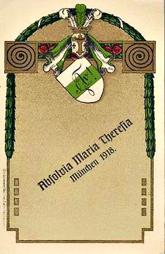 Absolvia Maria-Theresia-Relaschule München 1918