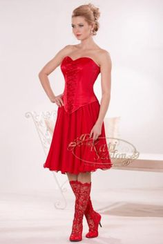 Folklore, Maid Dress, Red Boots, Fashion History, Lady In Red, Pin Up, Strapless Dress, Autumn Fashion, Cute Outfits