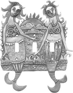 Siren Sisters Light Switch Plates, Outlet Covers, Wallplates