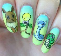 Pokemon Go Themed Nails Art