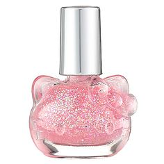 Hello Kitty Liquid Nail Art: Pink Sprinkles - sheer pale pink with iridescent glitter