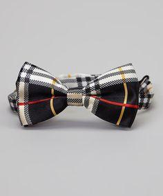 Loving this Black & Red Plaid Bow Tie on #zulily! #zulilyfinds