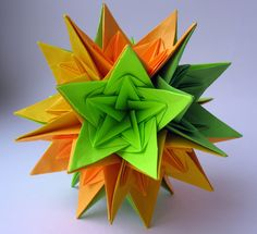 #37 Kusudama Nordblumen by Ирина Krivyakina - Yakomoga Origami tutorial