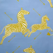Scalamandre Zebras Wallpaper Periwinkle Blue....how to talk Josh into this for the entry...