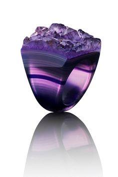✯ Raw Purple Agate Stone :: Joya Designs✯