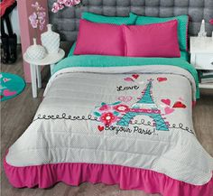 Paris Collection 3-Piece Soft Bedspread Set Full/Queen  #3Piece, #Bedspread, #Collection, #FullQueen, #Paris, #Soft, #Under25 #BeddingCollections
