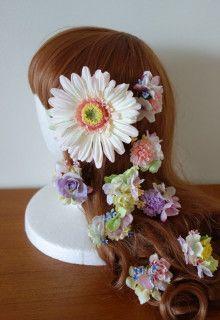成人式の前撮りに☆ ガーベラメインのヘアパーツセット♡ |Ordermade Wedding Flower Item MY FLOWER ♪ まゆこのブログ