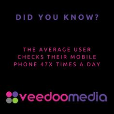 Did You Know? 🤔💬💡 . The average user checks their mobile phone 47x times a day . 🥇🏆 Digital Marketing Agency Helping Small Businesses Grow Online, Innovate & Transform . 🎯 Digital Marketing 🧩 Consultancy 🛒 eCommerce 🖥 Web Design . 📈 Work With Us to Grow Your Business Online and Get Ahead of Your Competitors . 🔗 www.veedoomedia.com . Follow Us 👉 @veedoomedia 👈 to Get More Valuable Insights into Digital Marketing . . . . . #sem #digitalmarketing #onlinemarketing #internetmarketing… Internet Marketing, Online Marketing, Digital Marketing, Ecommerce Web Design, Growing Your Business, Small Businesses, Did You Know, Online Business, Insight