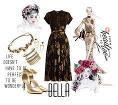 """Beautiful Bella"" by sahelirima on Polyvore featuring Bibhu Mohapatra, Rochas, BCBGeneration, Stella & Dot, Jennifer Behr, beoriginal, FangirlsDomain, styleinthemaking and FloralHeadpiece"