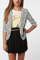 Sparkle & Fade Drapey Printed Blazer - Urban Outfitters - Urban Outfitters
