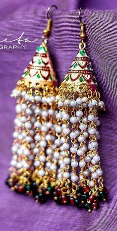 "Photo from Sanhita Aggarwal ""Portfolio"" album Wedding Earrings, Wedding Jewelry, Lehenga Wedding, Lehenga Saree, Mehendi, Real Weddings, Indian, Jewellery, Christmas Ornaments"