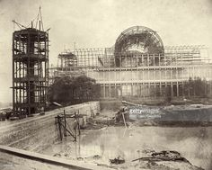 The reservoir at the north end of the Crystal Palace, during its reconstruction in Sydenham, south London. Get premium, high resolution news photos at Getty Images South London, Old London, Crystal Palace, Hyde Park, Fine Art Prints, Framed Prints, Canvas Prints, Framed Wall, Exhibition Building