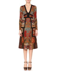 Patchwork+Paisley+Jacquard+Dress+by+Etro+at+Neiman+Marcus.
