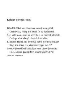 Kölcsey Ferenc: Huszt