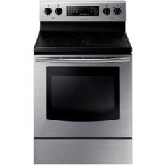 Samsung 30 in. 5.9 cu. ft. Electric Range with Self-Cleaning Convection Oven in Stainless Steel