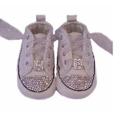 Initial Bling Converse Crib Shoes -- Baby Bling Things Boutique Online Store
