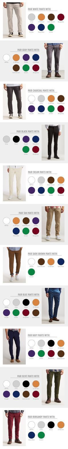 Chinos men outfit - How To Match Clothes Colored Pants And Colorful Shoes Mode Outfits, Casual Outfits, Men Casual, Fashion Outfits, Men Shoes Casual, Fashion Pants, Fashion Mode, Look Fashion, Mens Fashion