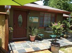 slate tiled porch +patio