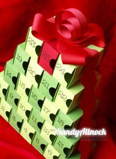 Advent Calendar made of matchboxes