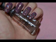 Esmalte Glitter 3D feito  em casa-Unha Glamourosa- Nail Glam 3D