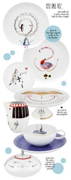 Alice in Wonderland crockery #design #decor