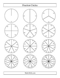 Fraction Circles Worksheet - Scalien
