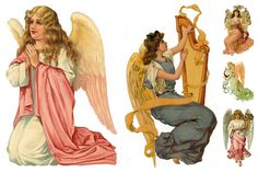 Magic Moonlight Free Images: Angel Collages for You! Free images for you to use in your art!
