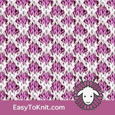 Slip Stitch Knitting Lattice - Easy To Knit Unicorn Knitting Pattern, Baby Cardigan Knitting Pattern Free, Knitting Paterns, Knitting Stitches, Knitting Projects, Slip Stitch Knitting, Knitting Basics, Knitting Room, Loom Knitting
