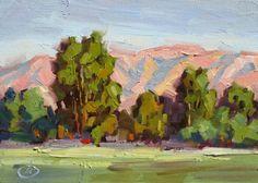 TOM BROWN PLEIN AIR WORKSHOP INFO, CALIFORNIA IMPRESSIONIST LANDSCAPE, painting by artist Tom Brown