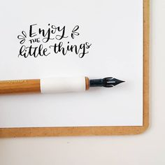 Enjoy the little things. Calligraphy Quotes, Modern Calligraphy, Christian Quotes, Little Things, Bible Verses, Doodles, Inspirational Quotes, Ink, Creative