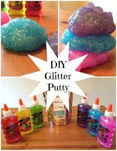 Glitter Putty Collage