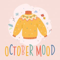Most up-to-date Photographs knitting sweaters illustration Popular Autumn card with lettering and sweater illustration Vector Autumn Illustration, Pattern Illustration, Illustrator, Autumn Aesthetic, Fall Cards, Hello Autumn, Grafik Design, Autumn Inspiration, Graphic Design Inspiration