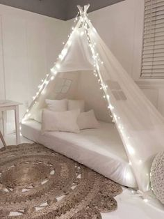 bed tent kids & Play Tent Canopy Bed in White Twill | Plays Beds and Play tents
