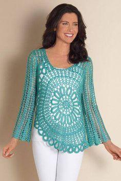 Tuniques au crochet/Virkad tunika Love the sleeves