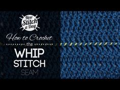 This video crochet tutorial will help you learn how to crochet the whip stitch seam. This method of joining two pieces of crochet fabric uses a simple whip stitch. It's best for fabric with straight edges and creates an almost invisible seam. Knitting Stiches, Crochet Stitches Patterns, Knitting Videos, Crochet Videos, Lace Knitting, Stitch Patterns, Knitting Patterns, Knit Stitches, Knifty Knitter