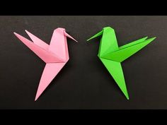 Easy Origami for kids Hummingbird - How to make Origami Hummingbird - YouTube Origami Rose, 3d Origami, Origami Bird Easy, Easy Origami For Kids, Origami Templates, How To Make Origami, Paper Crafts Origami, Origami Stars, Origami Tutorial