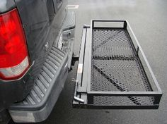 Our Stowaway Swing Away Hitch Carrier Basket is perfect to access rear of vehicle trunk or tailgate without the hassle removing cargo box from tow hitch. Truck Hitch, Trailer Hitch, Motorhome, Motorcycle Carrier, Hitch Rack, Jeep Suv, Jeep Gear, Truck Camping, Truck Accessories