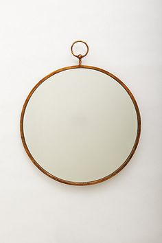 """Simple Hoop  Mirror #anthropologie Additional hanging hardware required Iron, glass 36.5""""H, 30"""" diameter, 1""""D Imported Style No. 35418706  $ 198 - with big changeable ribbon"""