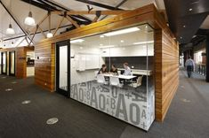 framing floating conference rooms