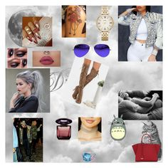 """""""call me 17"""" by nikoleta-nicky-malik ❤ liked on Polyvore featuring Fendi, Hamilton, FOSSIL, Versace, Forever 21 and Ray-Ban"""