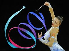 Twirl the ribbon in Rhythmic Gymnastics