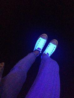 My glow in the dark converse