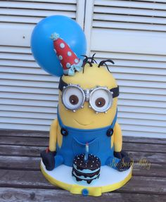 3D Minion Cake by The Sweet Alley
