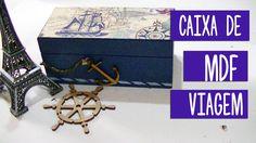 Caixa de MDF decorada  com guardanapo de decoupagem Toke e Crie - Sugest...