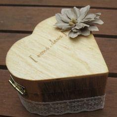 Porte-alliance boite coeur bois gamme |mariage champêtre chic|