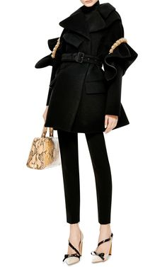 Embellished Bonded Wool Coat by Simone Rocha - Moda Operandi