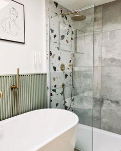 Downstairs Bathroom, Bathroom Renos, Small Bathroom, Bathroom Vanities, Bathroom Ideas, Casa Loft, Terrazo, Minimalist Interior, Bathroom Interior Design
